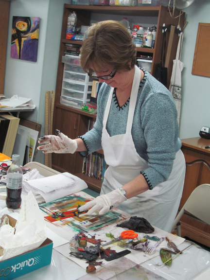 Melissa Stanfield Walker artist monotype workshop